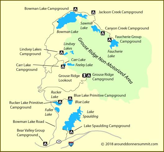 Bowman Road - Grouse Ridge Camping on california snorkeling map, california shooting map, california marine protected area map, california dunes map, california theater map, california red bluff ca map, california covered bridges map, california tide pools map, california recreation map, california camping book, california rates, northern california map, california ski areas map, california nature map, big sur map, norcal map, california reservations, california map redding ca, california tent camping locations, california wildlife map,