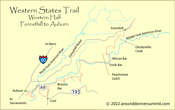 Western States Trail - Western state highways us map