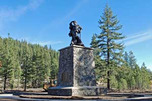 Pioneer Monument statue at Donner Memorial State Park, CA