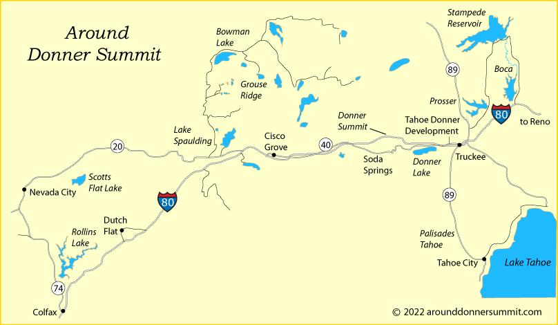 Donner Pass Map Around Donner Summit